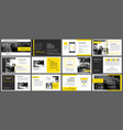 yellow element for slide infographic on vector image vector image
