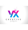 yx y x letter logo with shattered broken blue vector image vector image
