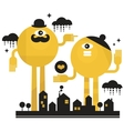 Monsters in the city vector image