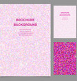 Colored abstract square tile mosaic brochure vector image