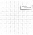 Seamless white square geometric tiles vector image