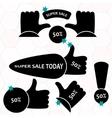 Super Sale paper banner Sale background Big sale vector image