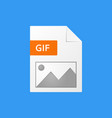 gif document gif file format icon vector image