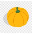 pumpkin isometric icon vector image