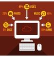 Cloud Storage Infographics Icons Set vector image