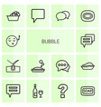 14 bubble icons vector image vector image