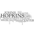 a career at the johns hopkins bayview medical vector image