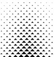 Abstract monochrome triangle pattern background vector image