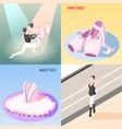 ballet 2x2 design concept vector image