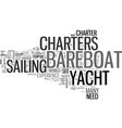 bareboat yacht charters save money with a vector image vector image