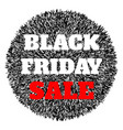 black friday sale abstract banner vector image