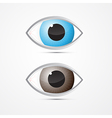 Blue and Brown Eyes vector image vector image