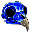 blue bird tattoo skull vector image vector image