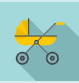 brand baby pram icon flat style vector image