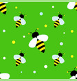 bright striped bee on a green background children
