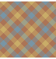 Brown beige diagonal checkered plaid seamless vector image vector image