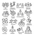 business management line icons pack 33 vector image vector image