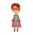 cartoon superhero vector image vector image