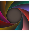 Colorful shutter photo frame vector image