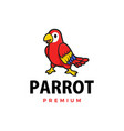 Cute parrot cartoon logo icon