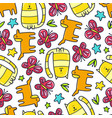 doodles pattern vector image vector image