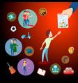 drug addiction background concept vector image vector image