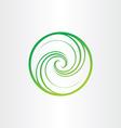 eco spyral green circle icon vector image vector image