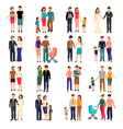 Flat Family Set vector image