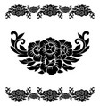flower pattern decoration vector image vector image