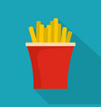 french fries icon flat style vector image vector image