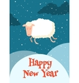 funny sheep jump over 2015 vector image