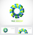 Gear or flower logo vector image vector image
