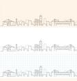 genoa hand drawn profile skyline vector image vector image