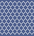 geometric pattern in arabian styleblue and white vector image vector image