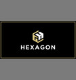 gh hexagon logo design inspiration vector image vector image