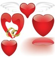 Glass Heart Collection vector image vector image