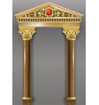 golden luxury classic arch portal with columns vector image vector image