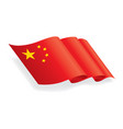 graphic china flag vector image