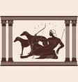 greek goddess artemis vector image