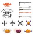 halloween with halloween logo elements vector image vector image