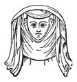 head-dress from effigy vintage engraving vector image vector image