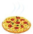 hot italian pizza vector image vector image