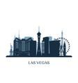 las vegas skyline monochrome silhouette vector image vector image