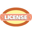 license banner on white background vector image vector image