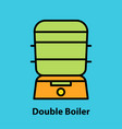 line icon of double boiler vector image