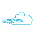 line nice cloud with fresh wind weather vector image vector image