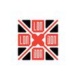 London - original print for interior T-shirt print vector image vector image