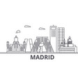 madrid architecture line skyline vector image vector image