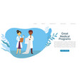 medical programs in hospital or clinic doctors vector image vector image
