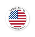 modern made in the usa label vector image